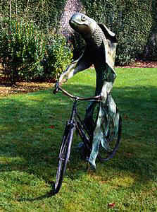 Steven Gregory's Fish on a Bike sculpture
